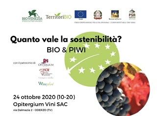 Quanto vale la sostenibilitá? Bio &Piwi, convegno il 24 ottobre